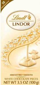Lindt White Lindor Truffles Chocolate Bar