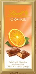 Lindt Orange Filled Chocolate Bar
