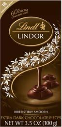 LINDOR Truffles 60% Extra Dark Chocolate Bar